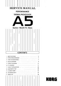 Servicehandboek Korg A5