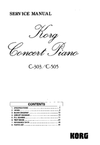 Service Manual Korg C-303
