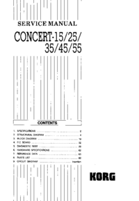 Manual de servicio Korg Concert-25