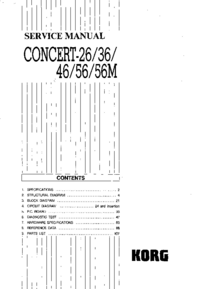 Manual de servicio Korg Concert-56