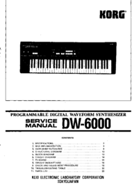 Service Manual Korg DW-6000