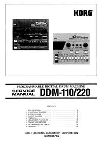 Руководство по техническому обслуживанию Korg DDM-220