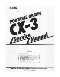 Instrukcja serwisowa Korg CX-3