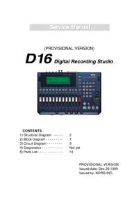 manuel de réparation Korg D16