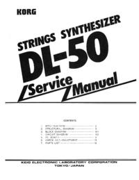 Manual de servicio Korg DL-50