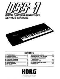 Service Manual Korg DSS-1