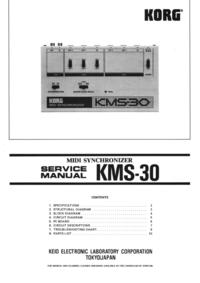 Serviceanleitung Korg KMS-30