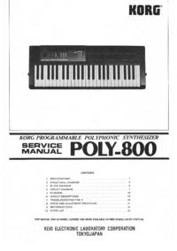 manuel de réparation Korg Poly-800
