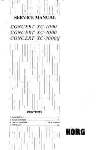 Instrukcja serwisowa Korg Concert XC-2000