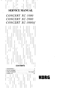 Service Manual Korg Concert XC-2000