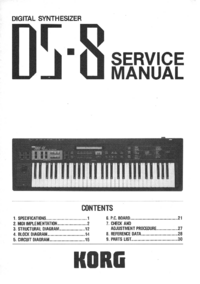 Service Manual Korg DS-8