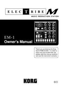 User Manual Korg Electribe M EM-1