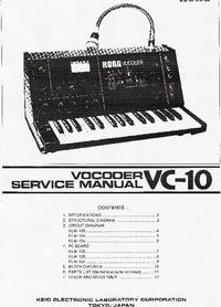 Manual de serviço Korg Vocoder VC-10