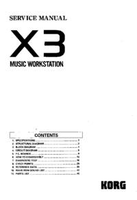 manuel de réparation Korg X3