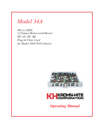 User Manual KrohnHite 34A