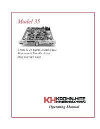Руководство пользователя KrohnHite 35