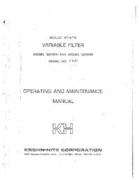 Serviço e Manual do Usuário KrohnHite 3200 R
