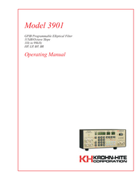 User Manual KrohnHite 3901
