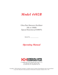 Gebruikershandleiding KrohnHite 4402B