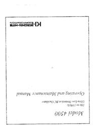 Servicio y Manual del usuario KrohnHite 4500