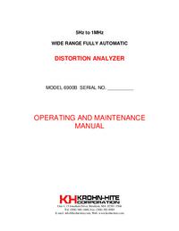 User Manual KrohnHite 6900B