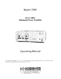 KrohnHite-7108-Manual-Page-1-Picture