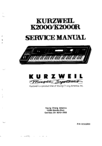 Service Manual Kurzweil K2000R