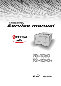 Instrukcja serwisowa Kyocera FS-1000