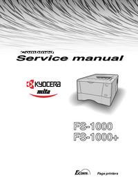 Serviceanleitung Kyocera FS-1000+
