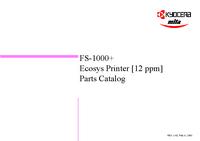 Liste des pièces Kyocera FS-1000+