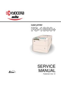 Manual de serviço Kyocera FS-1800+