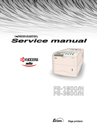Servicehandboek Kyocera FS-3800/N