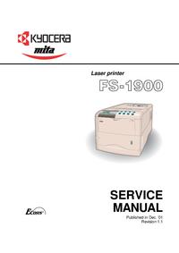 Service Manual Kyocera FS-1900