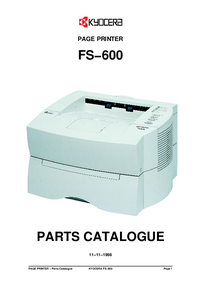 Part List Kyocera FS-600
