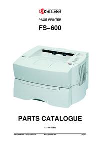 Liste des pièces Kyocera FS-600