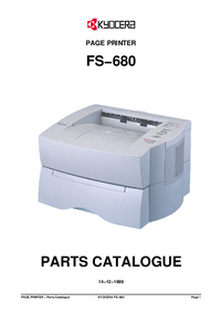 Part List Kyocera FS−680
