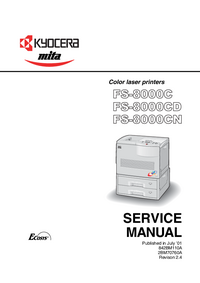 Manual de servicio Kyocera FS-8000CD