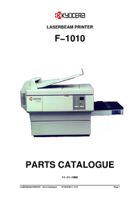 Lista części Kyocera F−1010