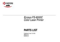 Lista de parte Kyocera Ecosys FS-8000C