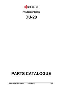 Part List Kyocera DU-20