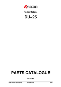 Part List Kyocera DU-25