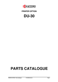 Part List Kyocera DU-30