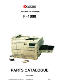 Part List Kyocera F−1000