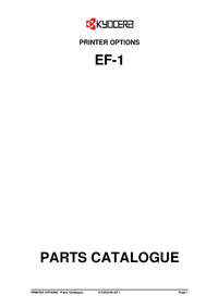 Service Manual, Part List only Kyocera EF-1