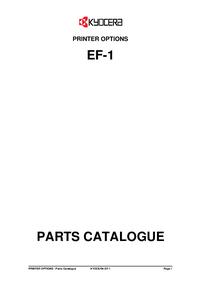 Service Manual, Liste partie seulement Kyocera EF-1