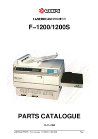 Part List Kyocera F-1200S
