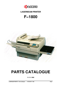 Part List Kyocera F−1800