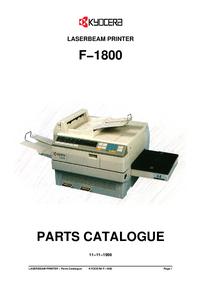 Liste des pièces Kyocera F−1800