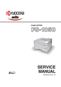 Manuale di servizio Kyocera FS-1050
