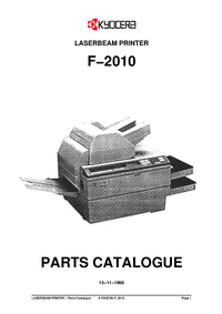 Part List Kyocera F−2010